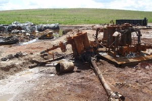 Salt Water Injection Facility Soil Remediation
